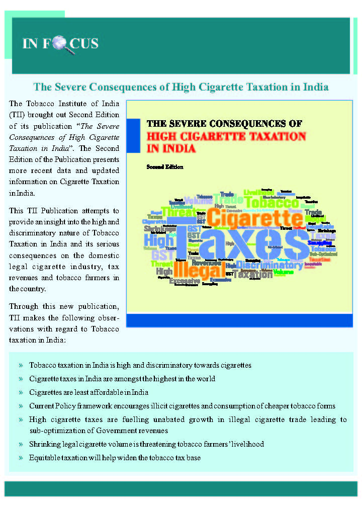 Tobacco Taxation in India | Tax on tobacco products in India